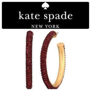 NWT Kate Spade Razzle Dazzle Hoops Red